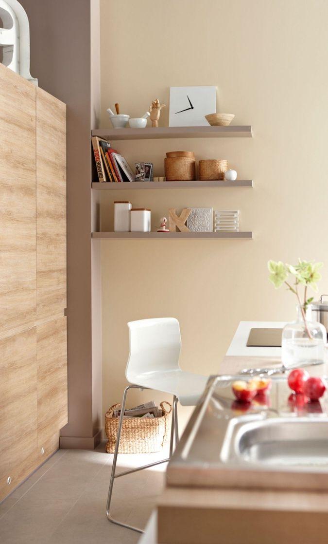 peinture cuisine couleur ton naturel peinture mur home kitchen et deco. Black Bedroom Furniture Sets. Home Design Ideas