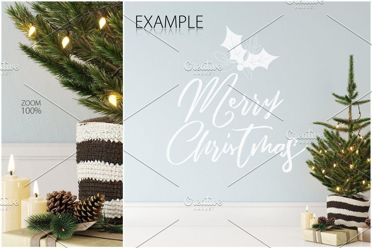 Ad Christmas Frame Wall Mockup Bundl Hellip By Yuri U On Creativemarket Christmas Scandinavian Interiors De In 2020 Frames On Wall Christmas Frames Mockup Design