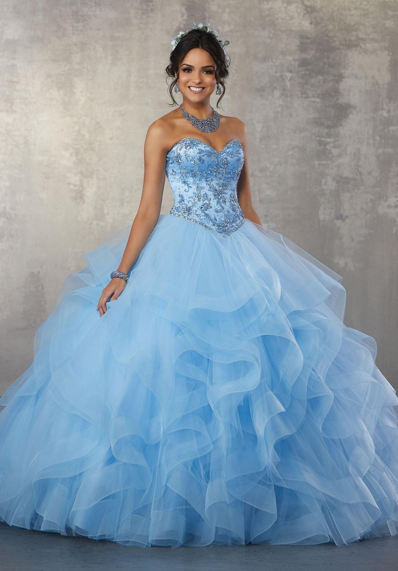503dc238067 Strapless Ruffled Quinceanera Dress