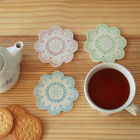 Make A Set Of Colourful Coasters Using Air Dry Clay And Sharpie Pens