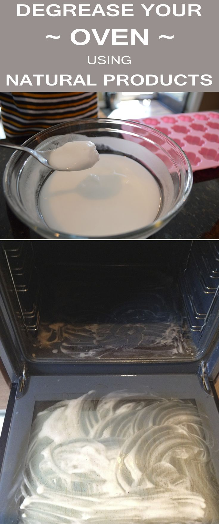 Degrease your oven using natural products household cleaning