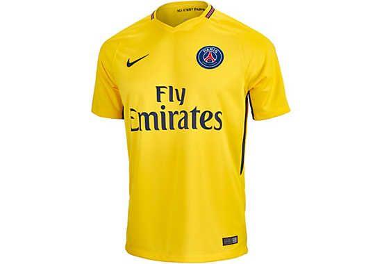 huge selection of bfb9f 22dcb Nike PSG Away Jersey 2017-18 | PSG Soccer Gear | Soccer ...