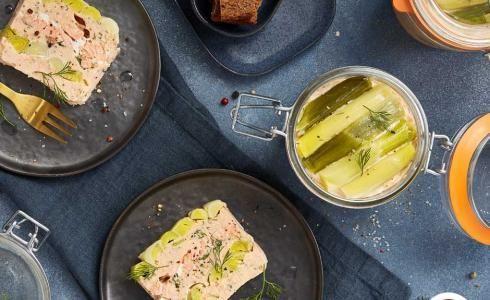 Recette : terrine de saumon aux poireaux #terrinedesaumon Recette : terrine de saumon aux poireaux #terrinedesaumon