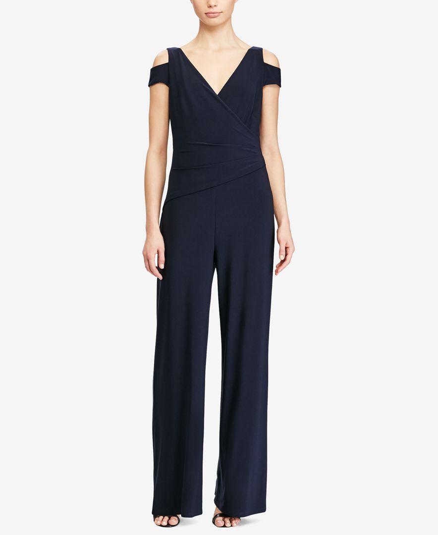 9616ca069f4 Lauren Ralph Lauren Plus Size Stretch-Jersey Jumpsuit