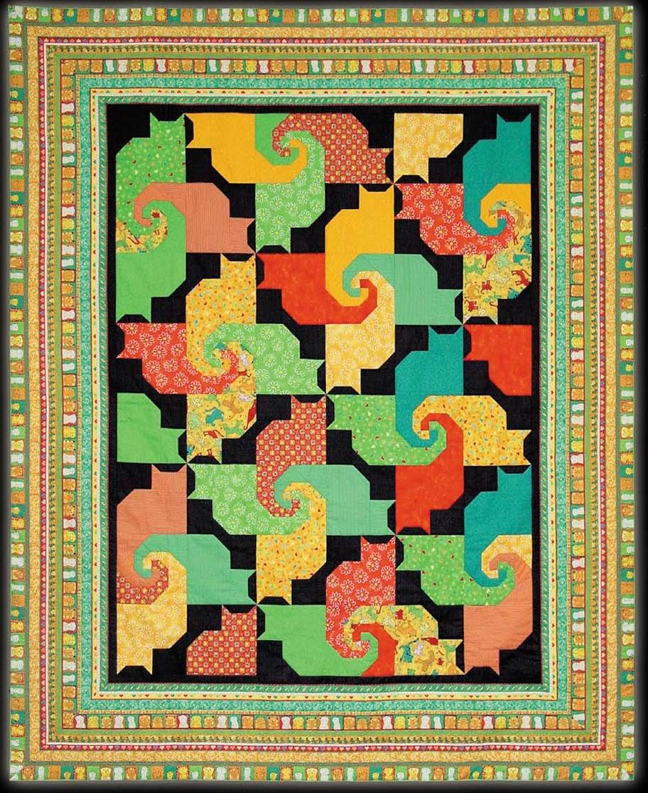 Free Pattern Day Cat And Dog Quilts Cat Quilts Pinterest