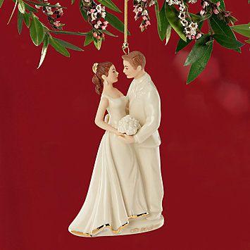 Always Forever Bride Groom Ornament Lenox