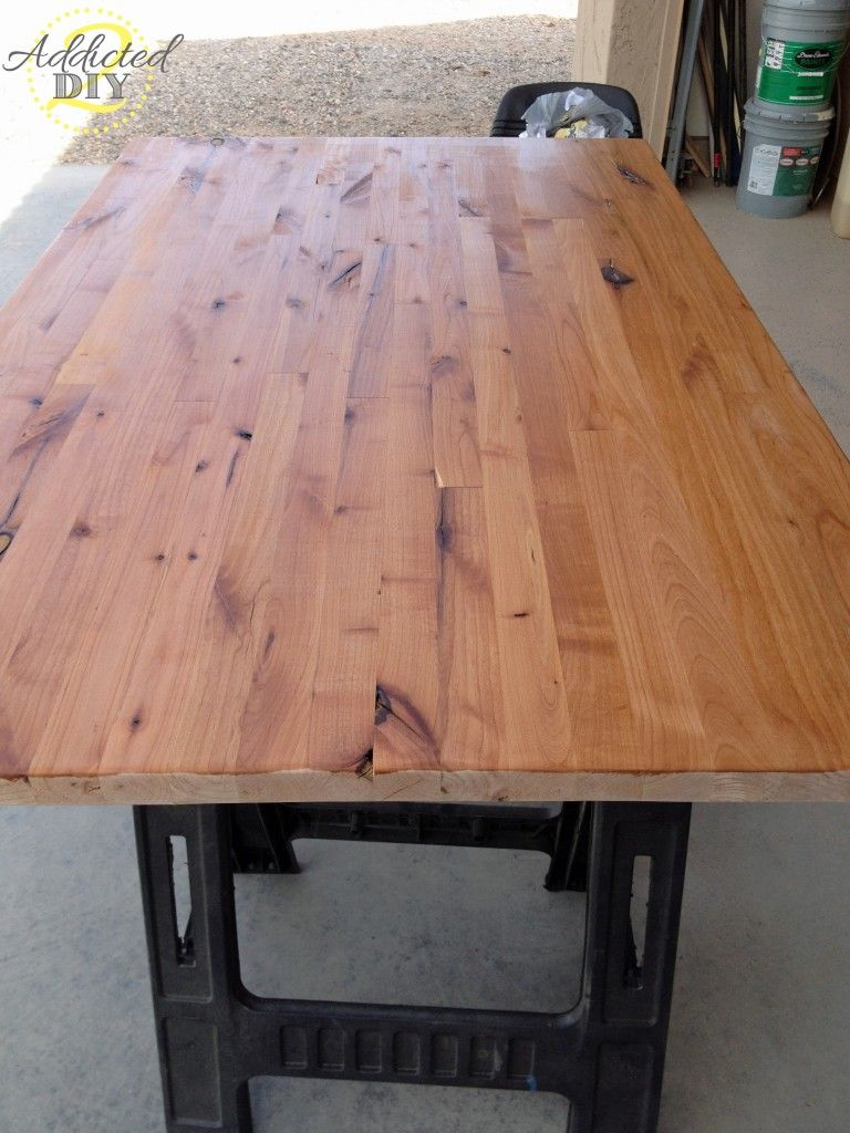 How To Build Your Own Butcher Block Homemade Kitchen Tables Wood Countertops Reclaimed Wood Countertop