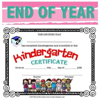 End of Year Certificates - Kindergarten Blank certificate - blank certificate