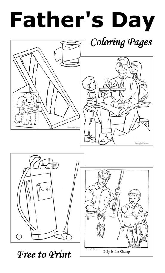 Fatheru0027s Day Coloring Pages - 10 free printable sheets to color - new free coloring pages for father's day