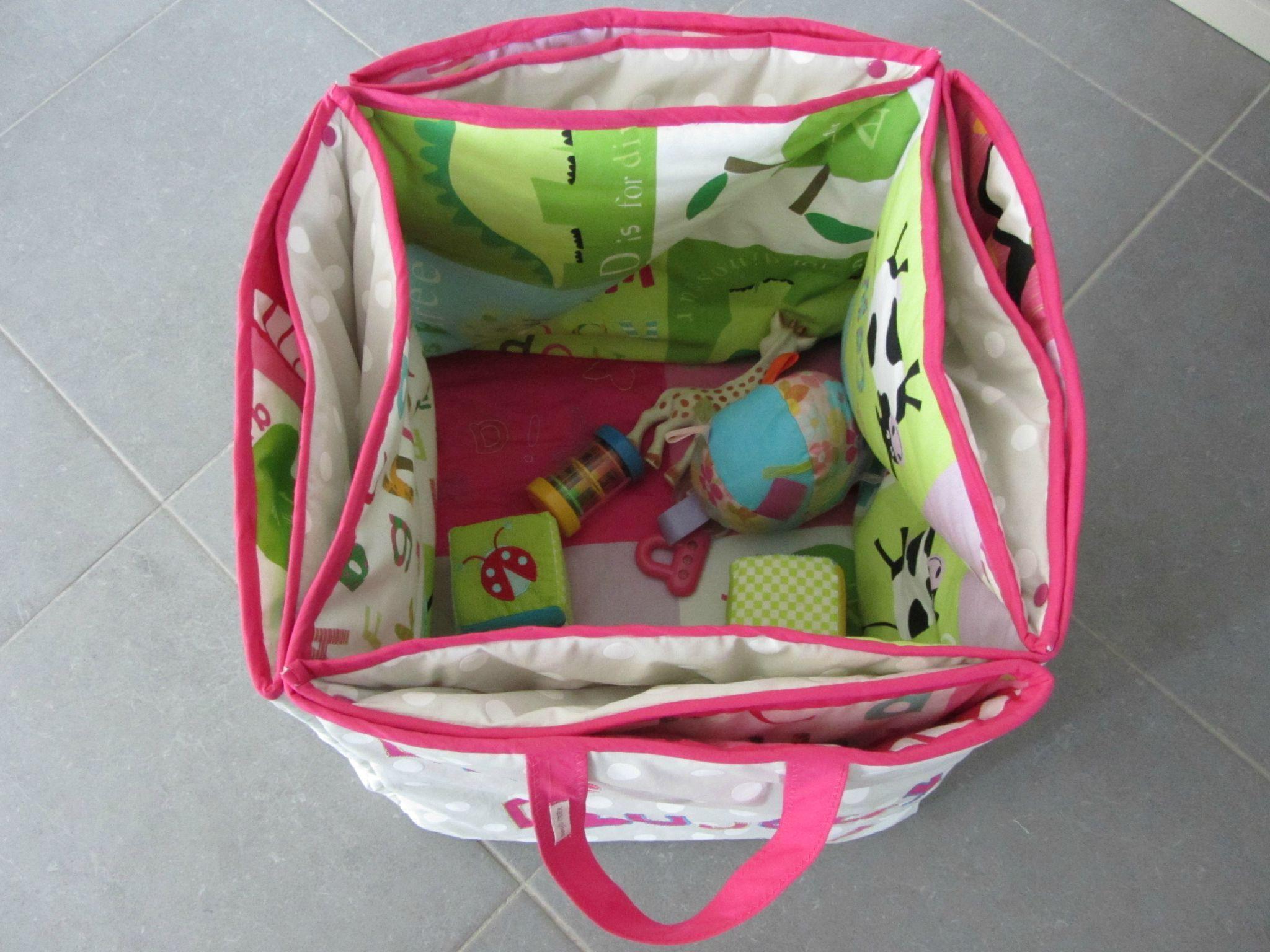 tapis de jeu sac jouets b b baby pinterest. Black Bedroom Furniture Sets. Home Design Ideas