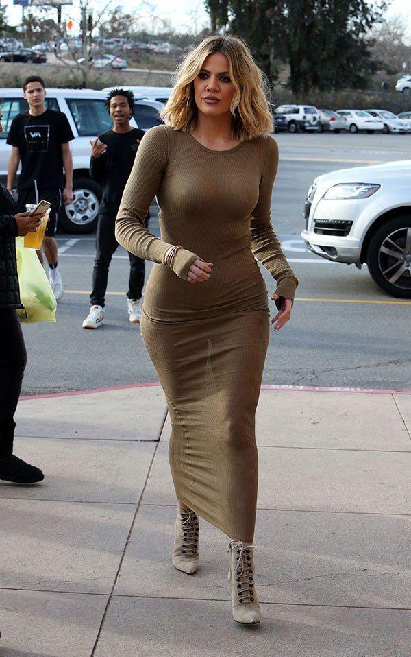 khloe kardashian gold maxi dress - Google Search