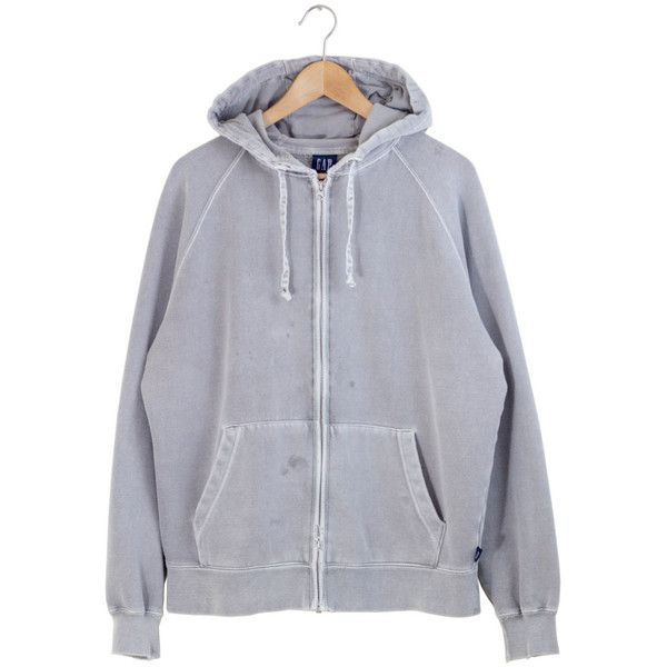 DISTRESSED GAP HOODIE washed out gray zip up hoodie light gray ...