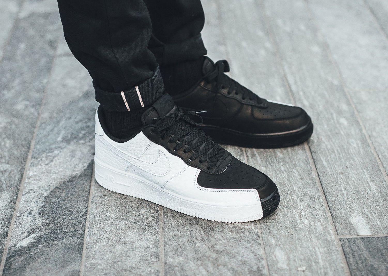 Zapatillas Nike Air Force 1 Low Split Negro Blanco 2018