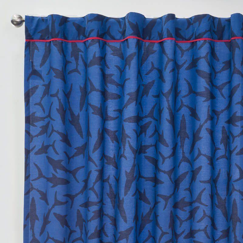 Shark Curtains Set | Shark and Room