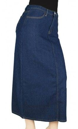 PERFECT WINTER DENIM SKIRT - LINED WITH FLEECE MATERIAL TO KEEP YOU WARM! - Apostolic Clothing #modest #fleece #skirts