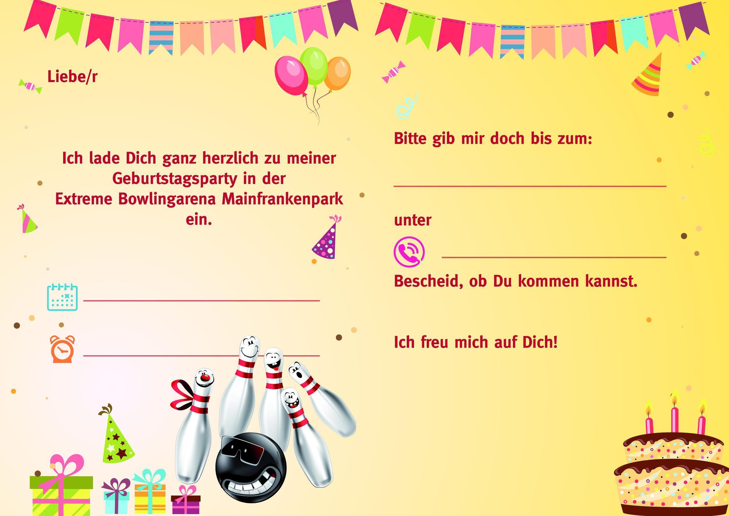Einladung Kindergeburtstag Kegeln Text Mottopartys Pinterest