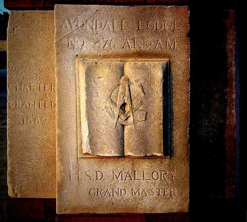 Avondale Birmingham Al: Cornerstone From The Old Avondale Masonic Lodge In