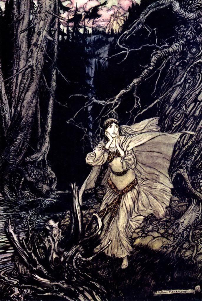Arthur Rackham Illustration For Undine By Friedrich De La Motte Fouque 1909 Favorite Artists Illustrators Rackham Arthur Rackham Fairytale Art Art