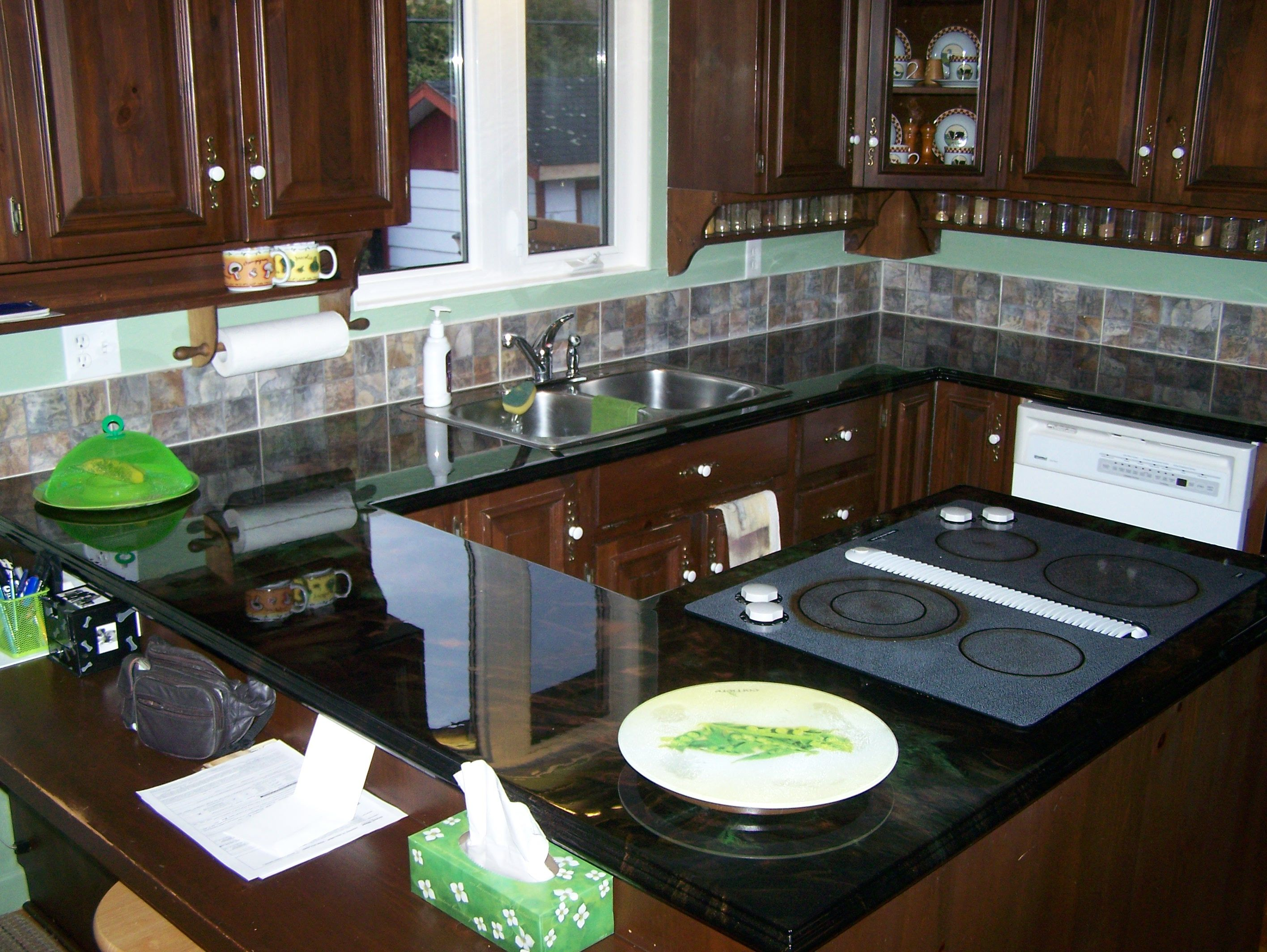 Easily Refinish Countertops With Epoxy