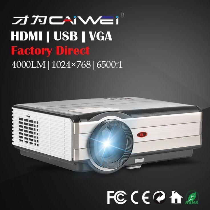 e0251dc2a HD Multimedia LED Home Theater Projector Backyard Movie Game HDMI USB VGA  4000LM
