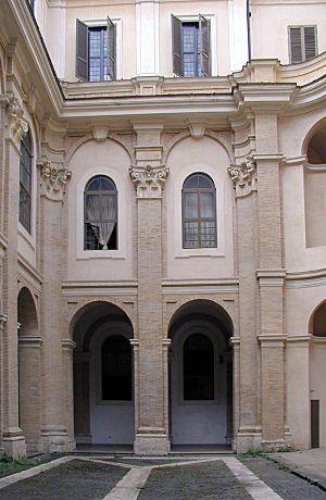 Oratorio dei Filippini 1637 Roma Corte com chiostro piccola