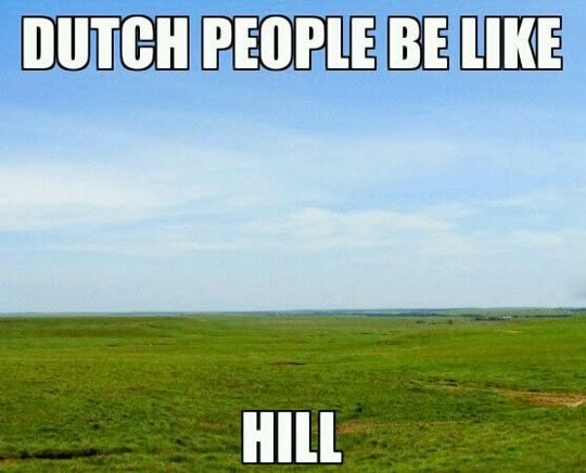 Ha ha! Love this, love those flat green meadows!