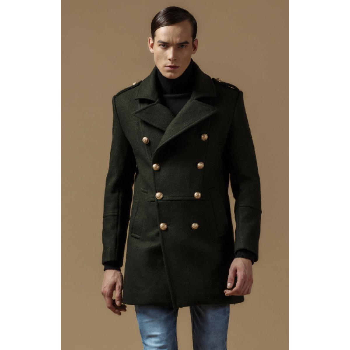 Manteau officier homme pas cher
