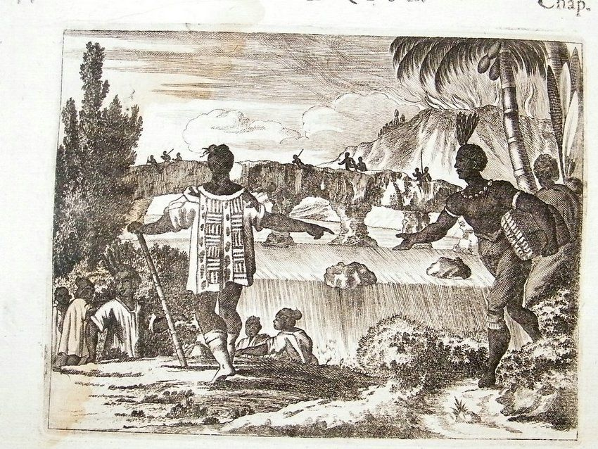john ogilby america Ecuador 1671 copper