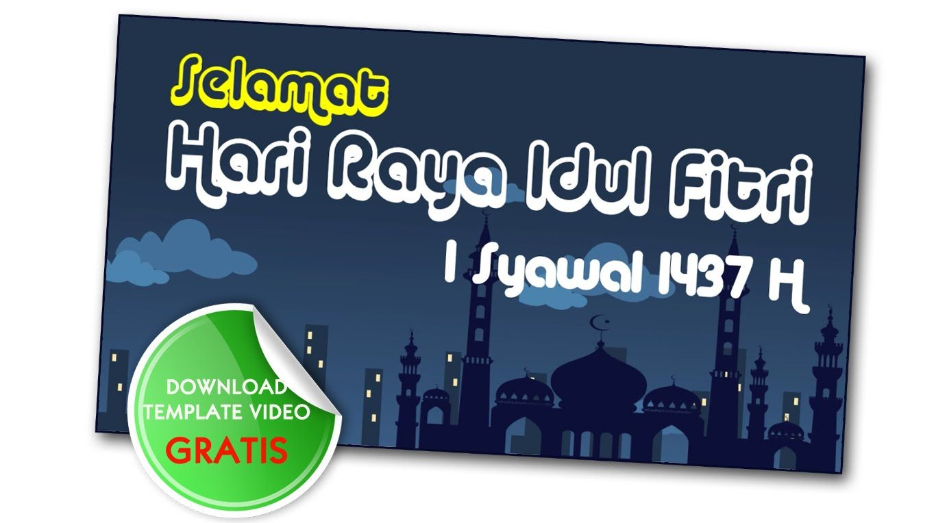 Part2 Template Ucapan Idul Fitri Free Bebas Di Download Youtube