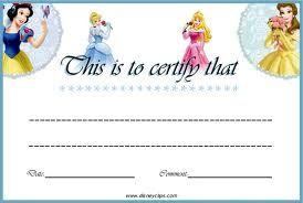 Princess Certificate Template