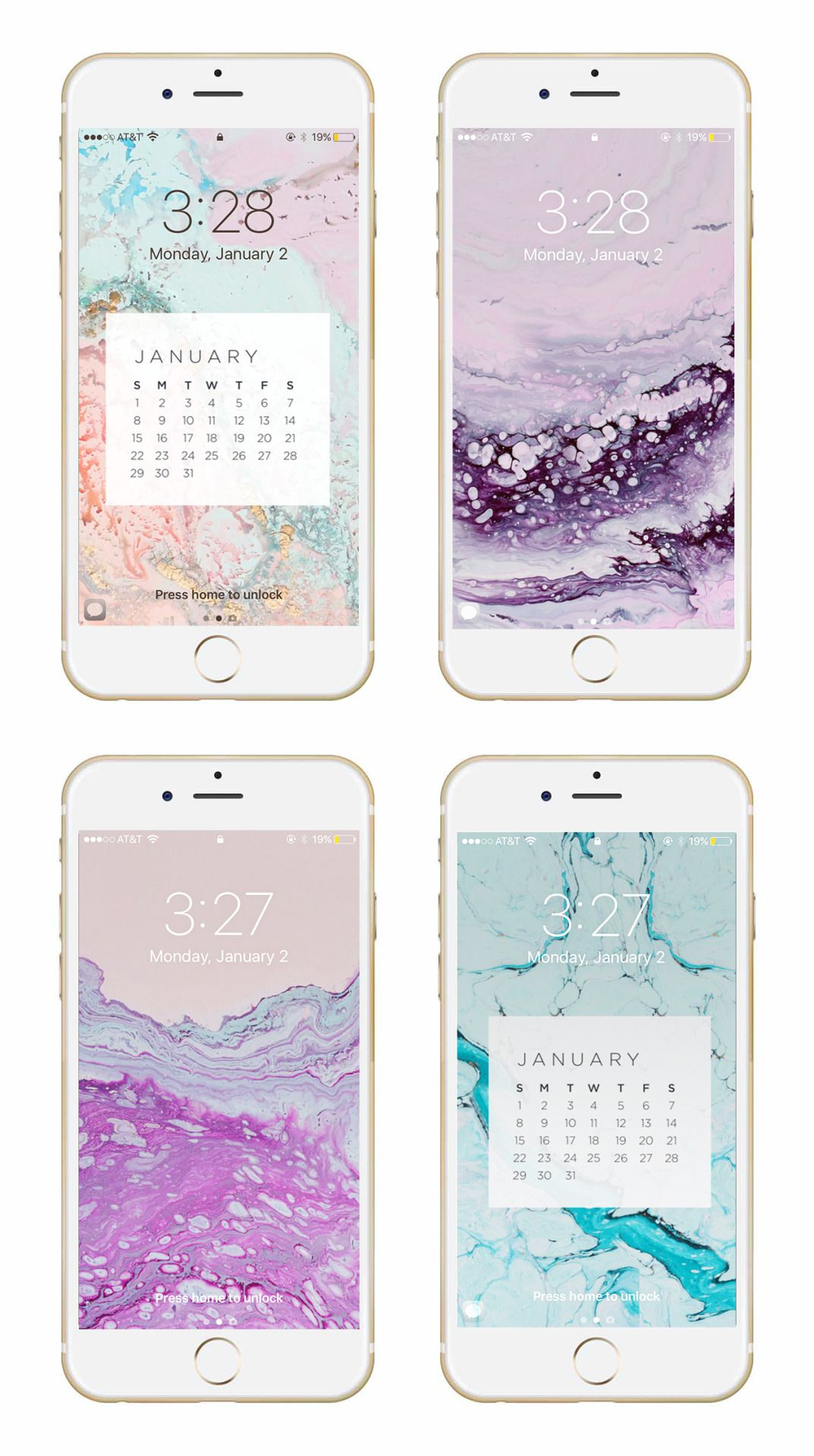 May Designs Blog JANUARY GEODE PHONE + DESKTOP WALLPAPER