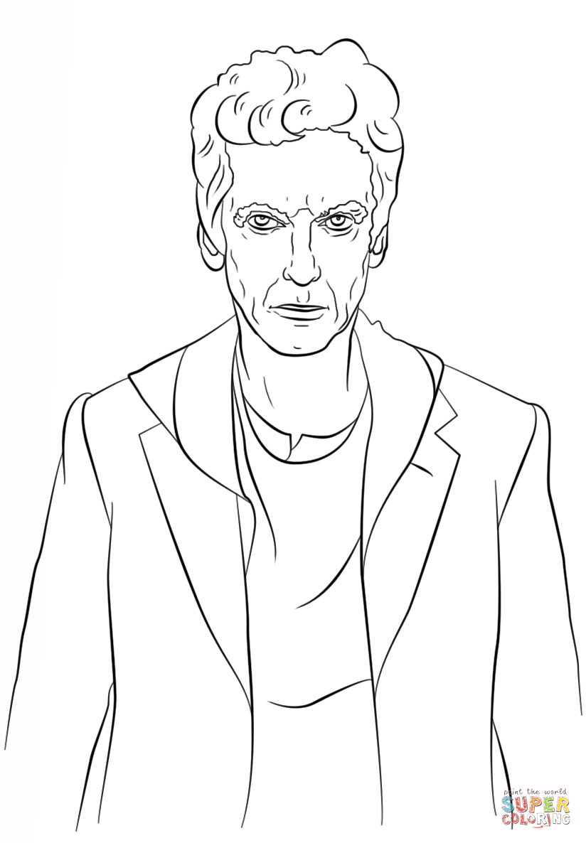The Twelfth Doctor From Who Coloring Page Category Select 27389 Printable