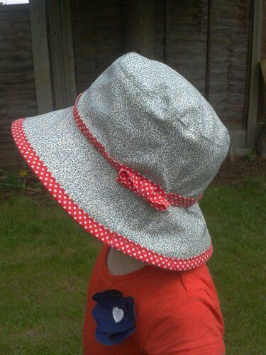 Toddler Sun Hat *Free Pattern*   Mütze, Nähen und Hüte