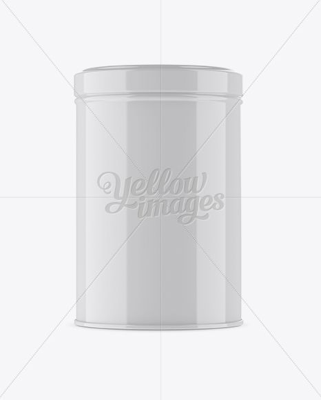 Glossy Storage Jar Mockup - Front View