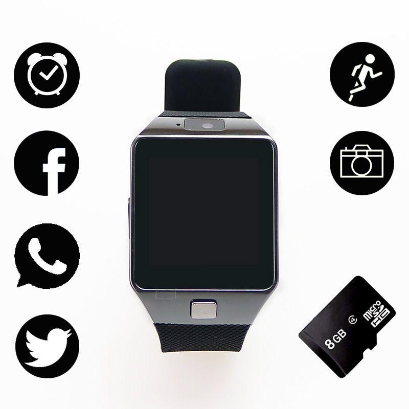 Dz09 Hommes Montre Smart Watch Avec Camera Bluetooth Connecter