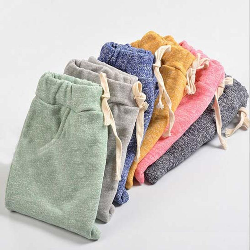 Top quality cotton baby boys girls harem pants kids children trousers boys girls