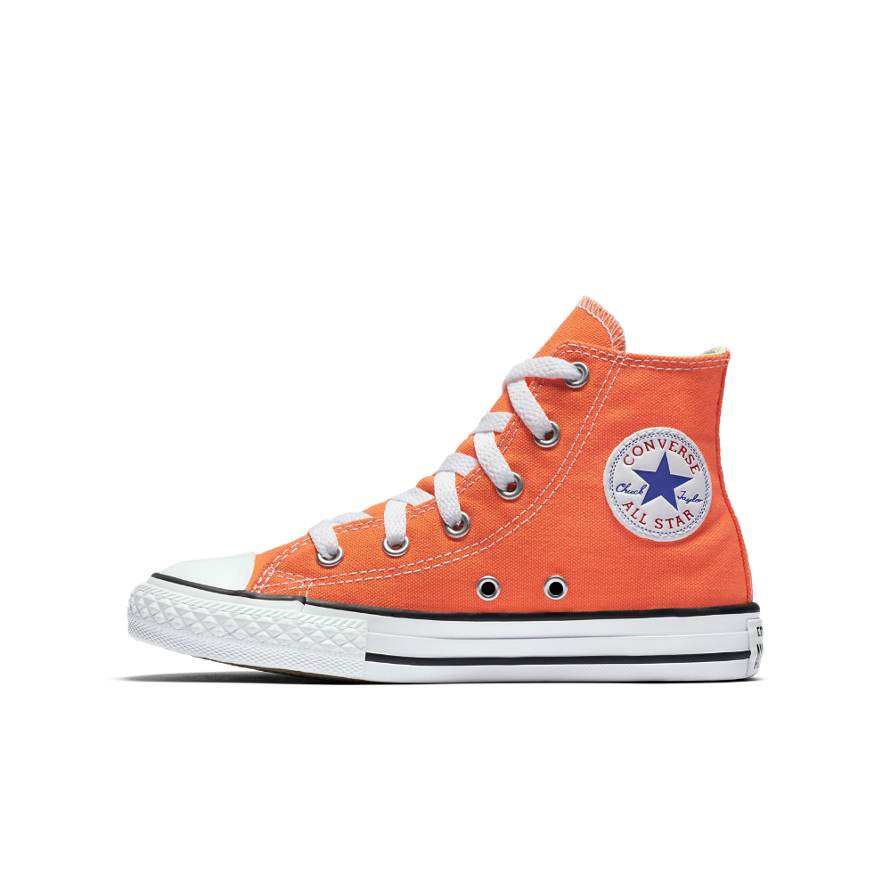 21a69ed2514e Converse Chuck Taylor All Star High Top Little Kids  Shoe Size 11C (Orange)  - Clearance Sale
