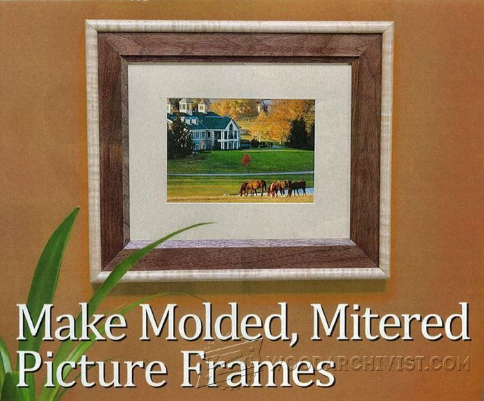 Make Molded Mitered Picture Frame - Woodworking Plans and Projects ...