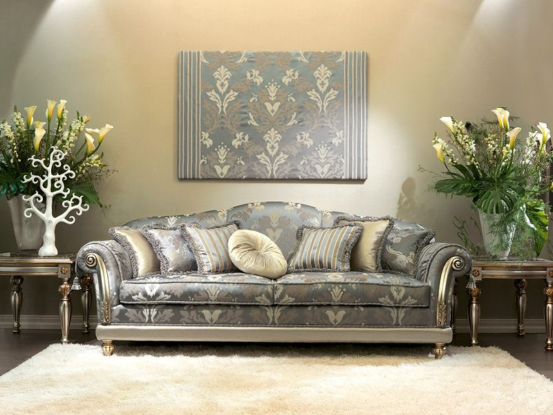 Beautiful Camelia Luxury Clic Sofas With Grey Color Design Fabulous Living Room Cream Carpet Indoor Plant