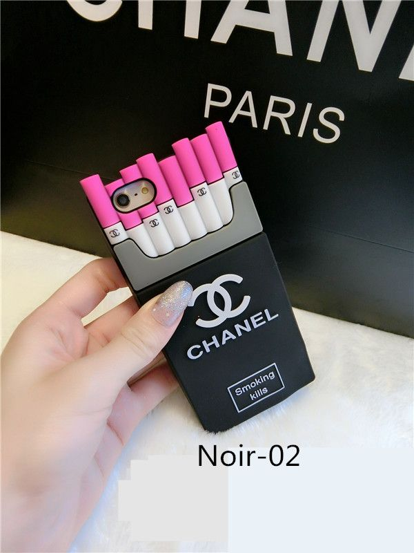 prix favorable grande collection emballage élégant et robuste Coque Chanel silicone forme d'un porte-cigarette smoking ...
