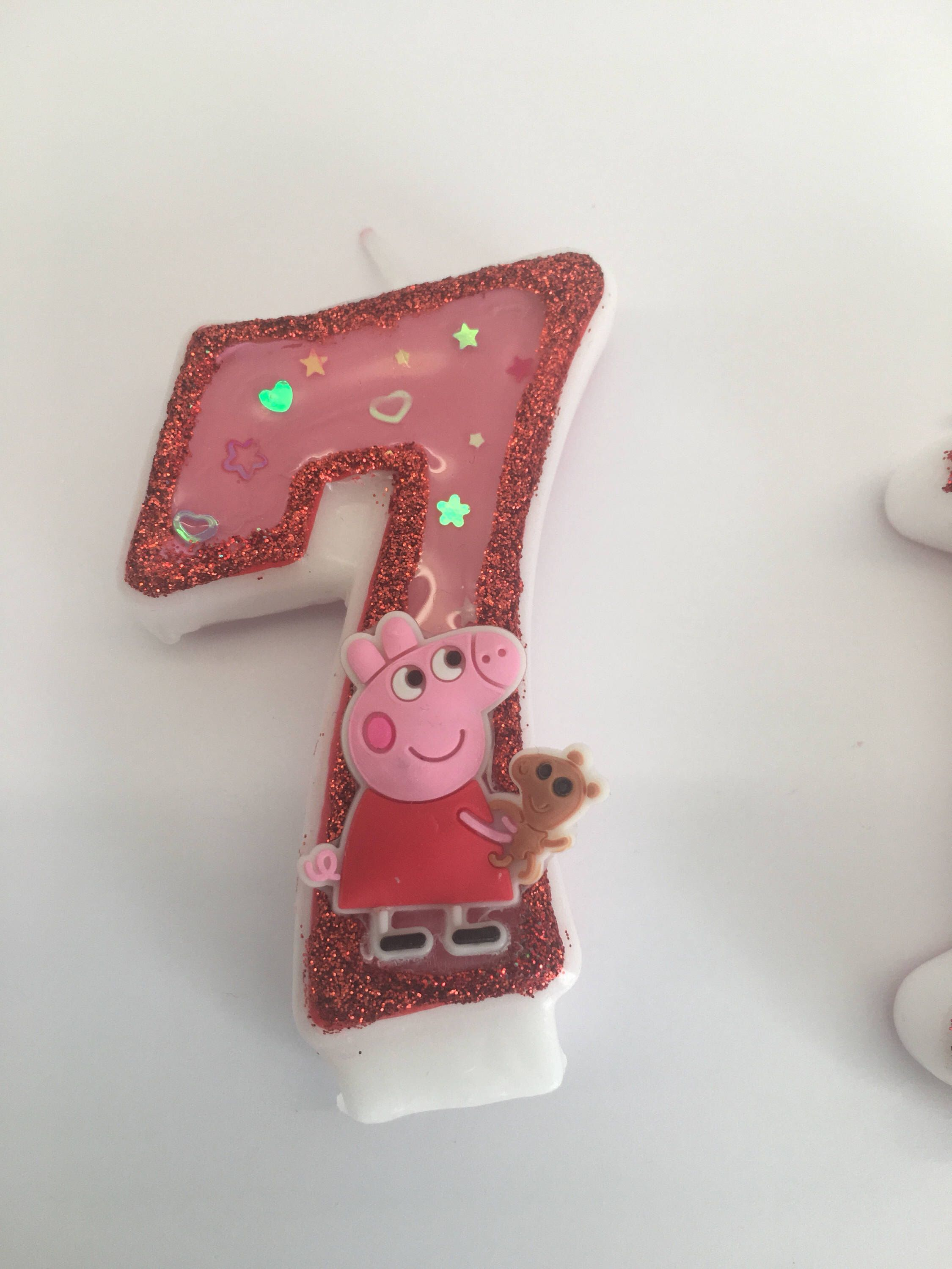 Glitter Candles Peppa Pig Custom 7th Birthday Party Themes