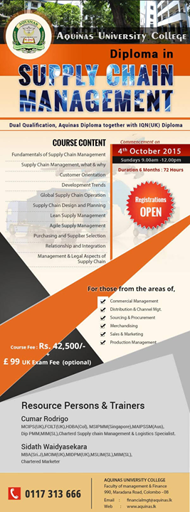 Diploma in Supply Chain Management  4th Intake  Diploma in Supply Chain Management  4th Intake