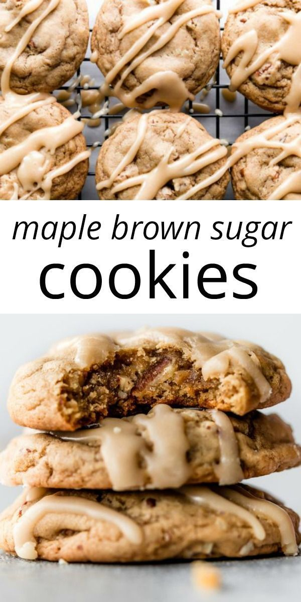 With big flavor, crisp edges, and mega chewy centers, these maple brown sugar co…