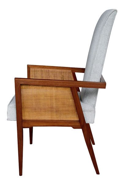 A Stylish Pair Of American Walnut Side Chairs Designed By Foster