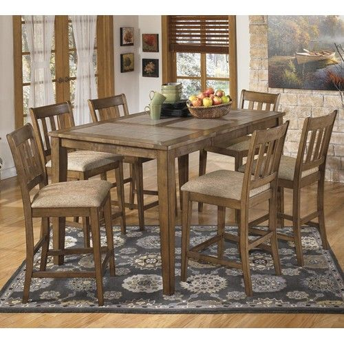 Brazenton 7pc Dining Set Table And 6 Chairs Wooden Dining Chairs Dining Table Dining Room Furniture Sets