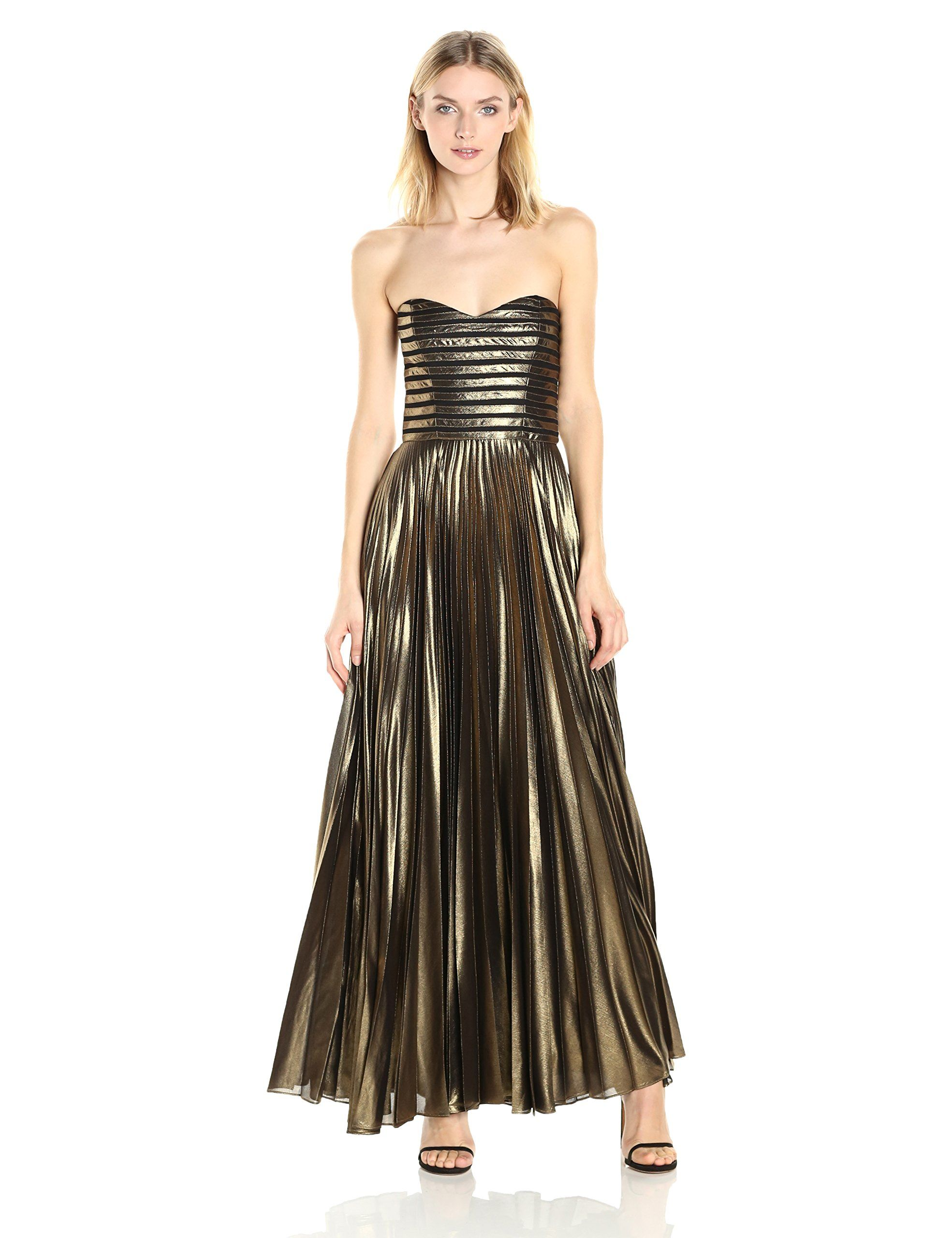 Parker womenus jacquie dress gold made in china percent