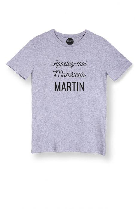 """T shirt homme personnalisable """"Applez moi Monsieur """""""