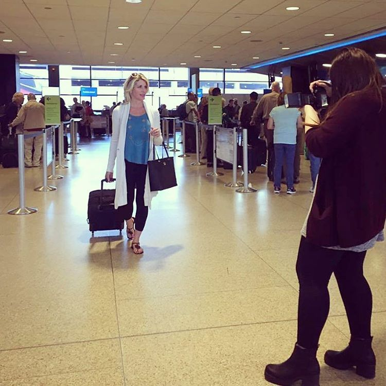 """A Little Behind The Scenes Shot Of Our """"airport Style"""