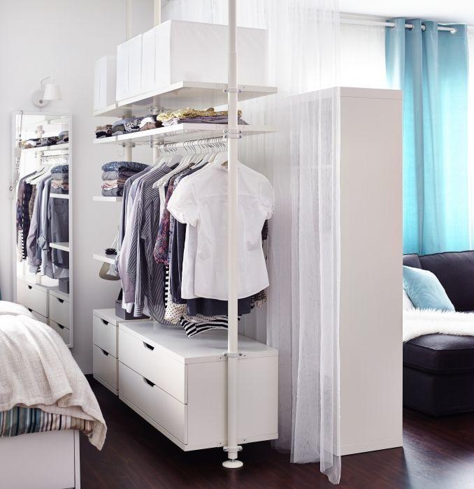 Stolmen systeem ikea dagrommel kledingkast inloopkast roomdivider garderobe bedroom - Studio opslag ...