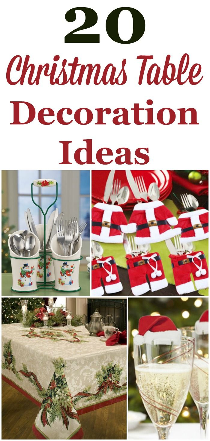 Decorating Your Table For Christmas Dinner Can Be A Lot Of Fun Here Are 20 Christmas Table Decoration Ideas You Can Choose From T Christmas Table Decorations Christmas Tablescapes Christmas Deco